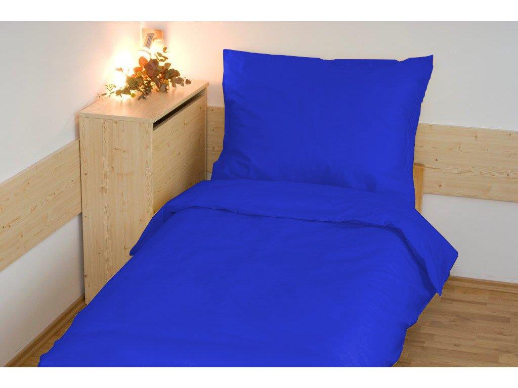 Povlečení bavlna UNI 140x200, 70x90cm tmavě modrá, Výběr zapínání: