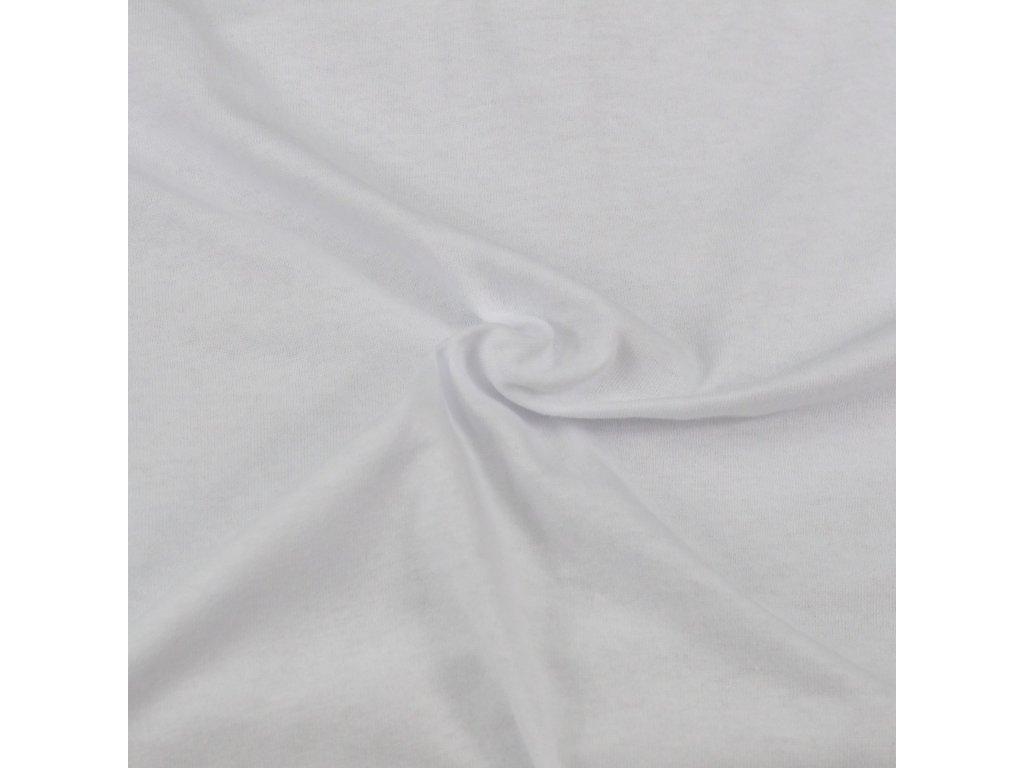 ATYP -Prodloužené Jersey prostěradlo 80x210cm + 20cm bílé