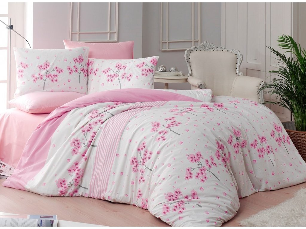 Povlečení bavlna 140x200, 70x90cm Viola pink, Výběr zapínání: