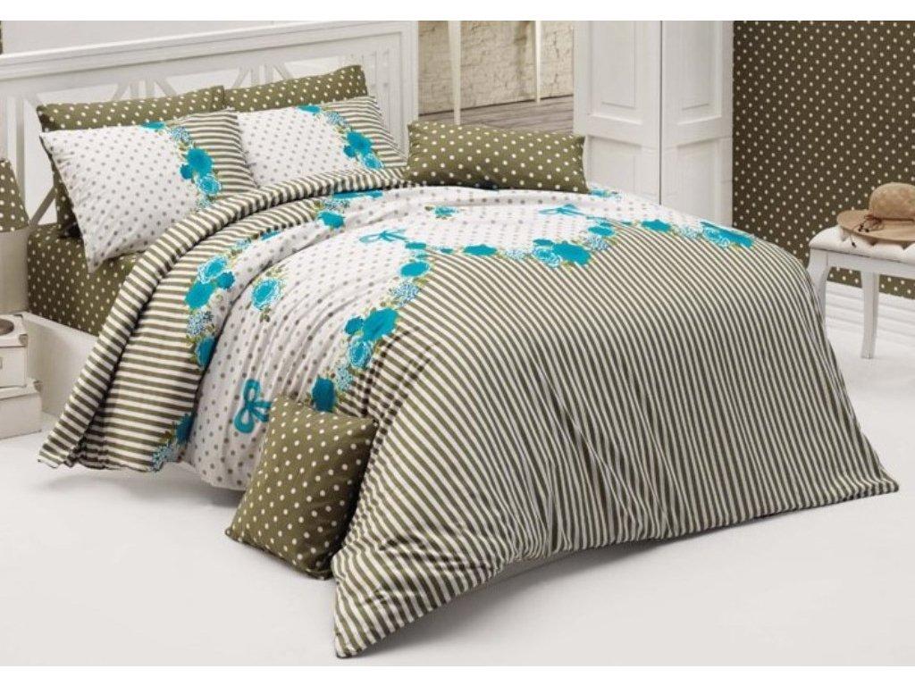 Bavlněný povlak na polštář Tanya modrá, Výběr rozměru: 50x70