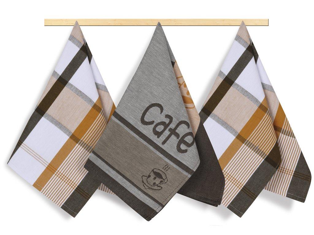 Kuchyňská utěrka 50x70cm kávička