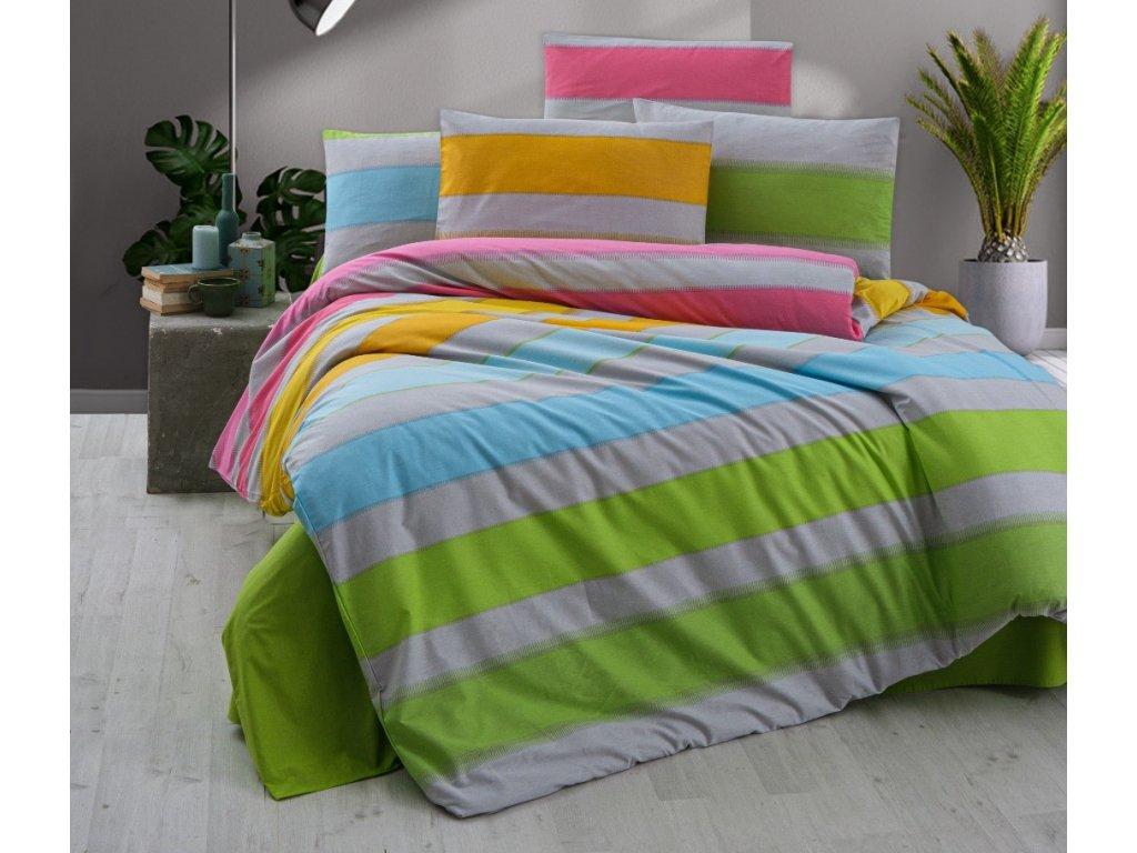 Povlečení francouzské krep 200x200, 70x90 Rainbow color, Výběr zapínání: zipový uzávěr