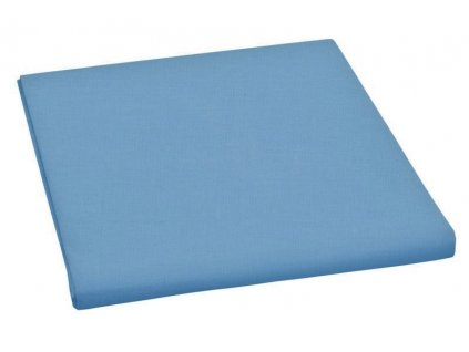 Prostěradlo bavlněné jednolůžkové 150x230cm modré