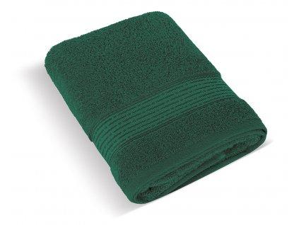 Froté osuška 70x140cm proužek 450g tmavě zelená