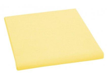 Prostěradlo bavlněné jednolůžkové 150x230cm sytě žluté