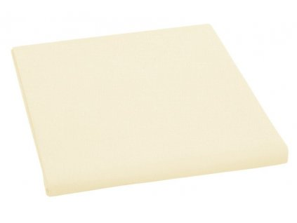 Prostěradlo bavlněné jednolůžkové 140x230cm světle žluté