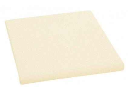 Prostěradlo bavlněné jednolůžkové 150x230cm světle žluté