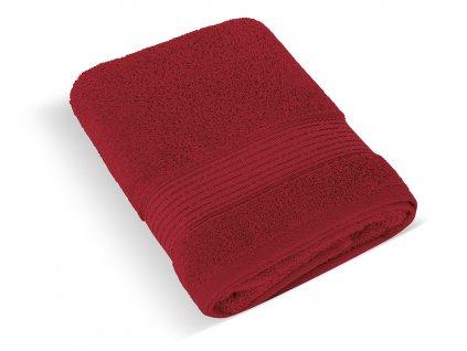 Froté ručník 50x100cm proužek 450g vínová