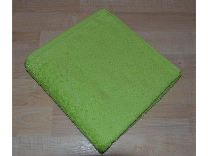 Froté osuška 70x140cm bez proužku 450g světle zelená