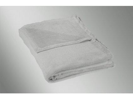 Micro deka jednolůžko 150x200cm světle šedá 300g/m2