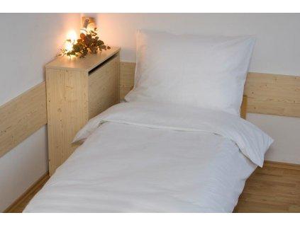 Prodloužené povlečení bavlna UNI 140x220, 70x90cm Bílá, Výběr zapínání: