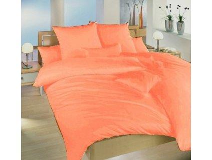 Prodloužené povlečení krep UNI 140x220, 70x90cm Oranžové, Výběr zapínání: zipový uzávěr