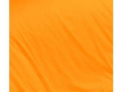 Oranžové saténové prostěradlo 140x230 plachta bez gumy