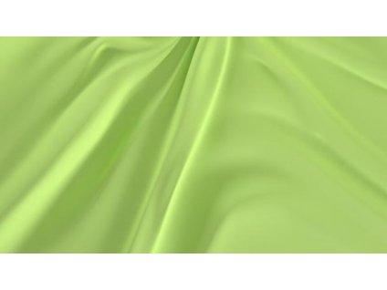 Světle zelené saténové prostěradlo 240x230 plachta bez gumy