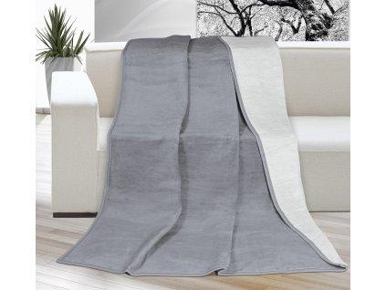 Deka Kira PLUS jednolůžko 150x200cm světle šedá/tmavě šedá