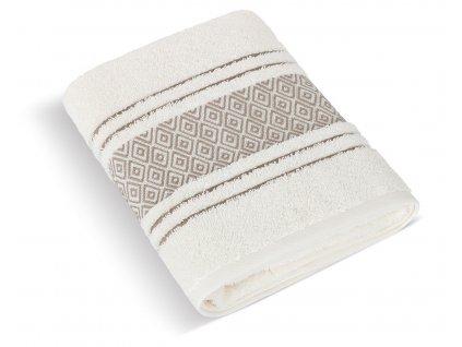 Froté ručník Mozaika 50x100cm 550g krémová