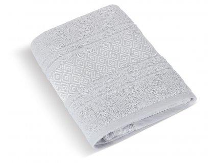Froté ručník Mozaika 50x100cm 550g světle šedá