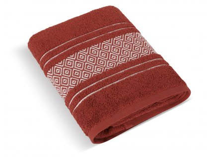 Froté ručník Mozaika 50x100cm 550g terra