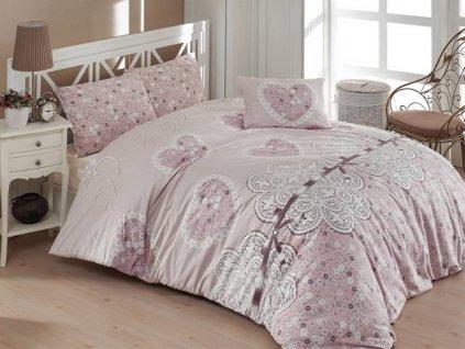 Prodloužené povlečení bavlna 140x220, 70x90cm Dream love, Výběr zapínání: