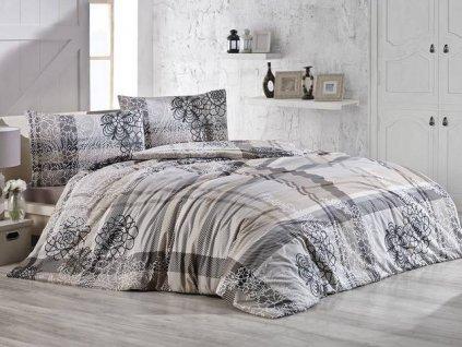 Povlečení bavlna 140x200, 70x90cm Lady natur, Výběr zapínání: