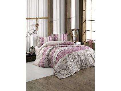 Povlečení francouzské bavlna 240x200,70x90 Scarlet pink, Výběr zapínání: zipový uzávěr