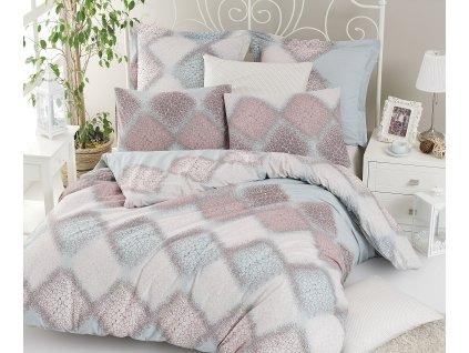 Prodloužené povlečení bavlna 140x220, 70x90cm Mandy, Výběr zapínání: