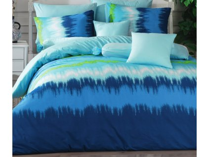 Povlečení francouzské bavlna 220x200,70x90 Picaso blue, Výběr zapínání: