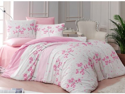 Povlečení francouzské bavlna 200x200,70x90 Viola pink, Výběr zapínání: