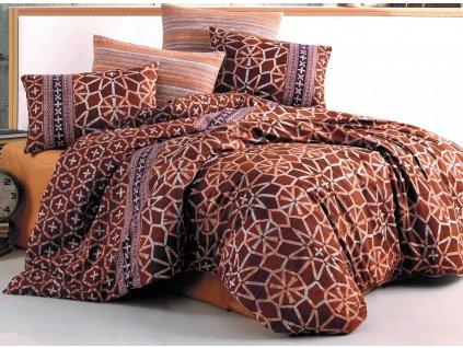 Povlečení bavlna 140x200, 70x90cm Ivory brown, Výběr zapínání: zipový uzávěr