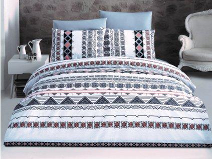 Povlečení bavlna 140x200, 70x90cm Lysi grey, Výběr zapínání: zipový uzávěr