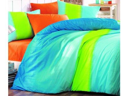 Prodloužené povlečení bavlna 140x220, 70x90cm Colorful blue, Výběr zapínání: