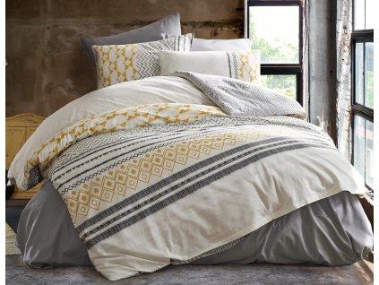 Prodloužené povlečení bavlna 140x220, 70x90cm Litea natur, Výběr zapínání: