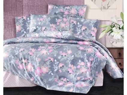 Prodloužené povlečení bavlna 140x220, 70x90cm Sarah pink, Výběr zapínání: