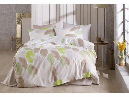 Povlečení francouzské bavlna 200x200,70x90 Nobles green, Výběr zapínání: zipový uzávěr