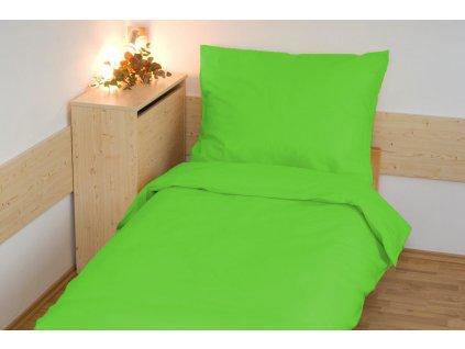 Prodloužené povlečení bavlna UNI 140x220, 70x90cm Limetka, Výběr zapínání: zipový uzávěr