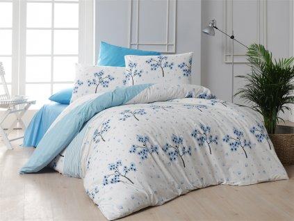 Povlečení francouzské bavlna 220x200,70x90 Viola blue, Výběr zapínání: zipový uzávěr