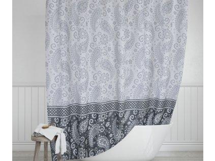 Koupelnový závěs šedý kašmír