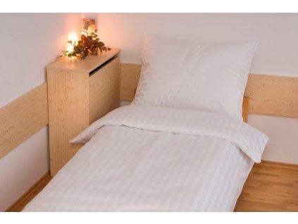 Povlak Atlas Gradl 30x40cm Bílý - mykaný 170g/m2, proužek 2cm Skladem 21ks, Výběr zapínání: hotelový uzávěr