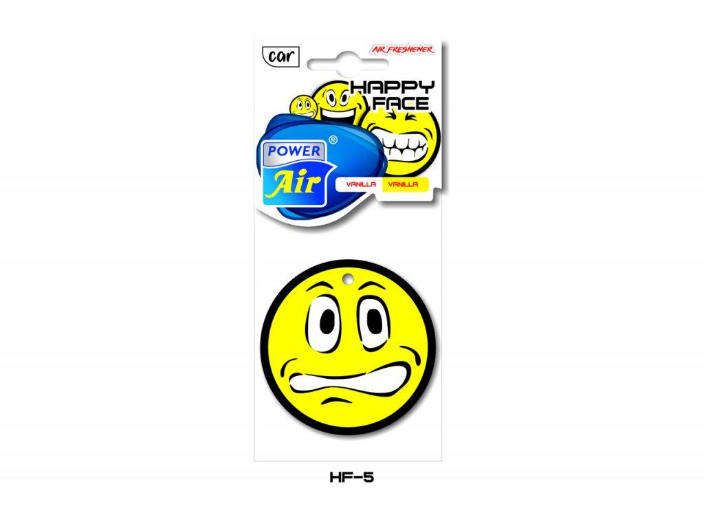 HAPPY FACE papírový osvěžovač - Vanilla