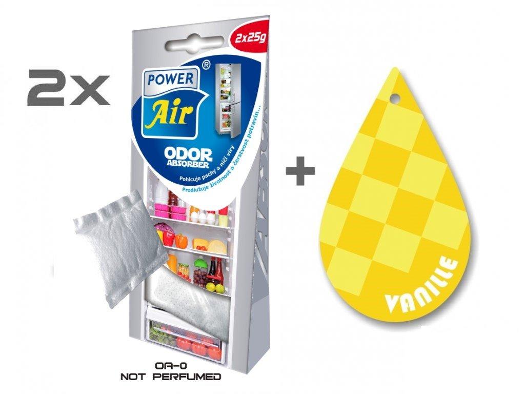 ODOR ABSORBER 1+1 + Papírový osvěžovač vzduchu - Vanilla