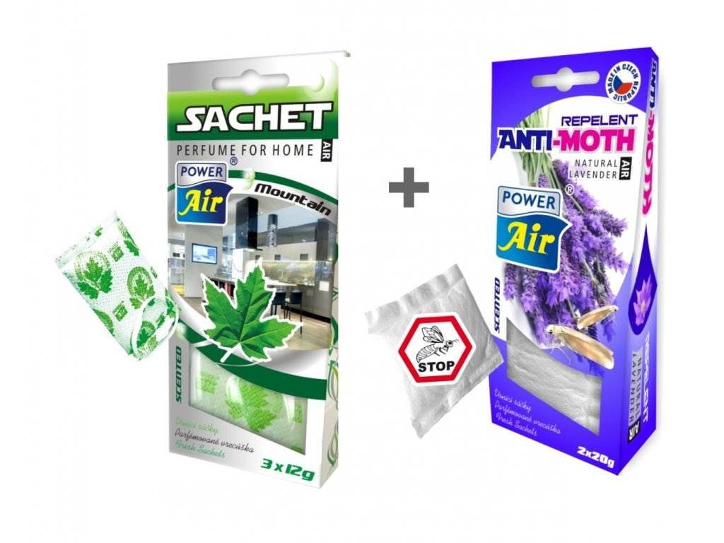 ANTI MOL 2x20g + SACHET vonný sáček 3x12g - Mountain