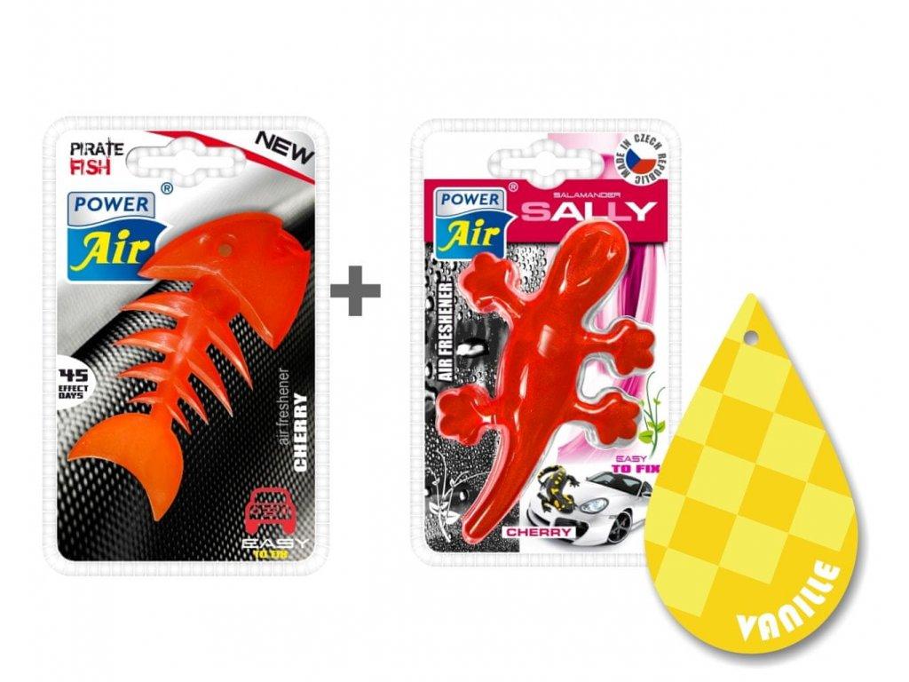 PIRATE FISH + SALLY + Papírový osvěžovač - Cherry/Vanilla
