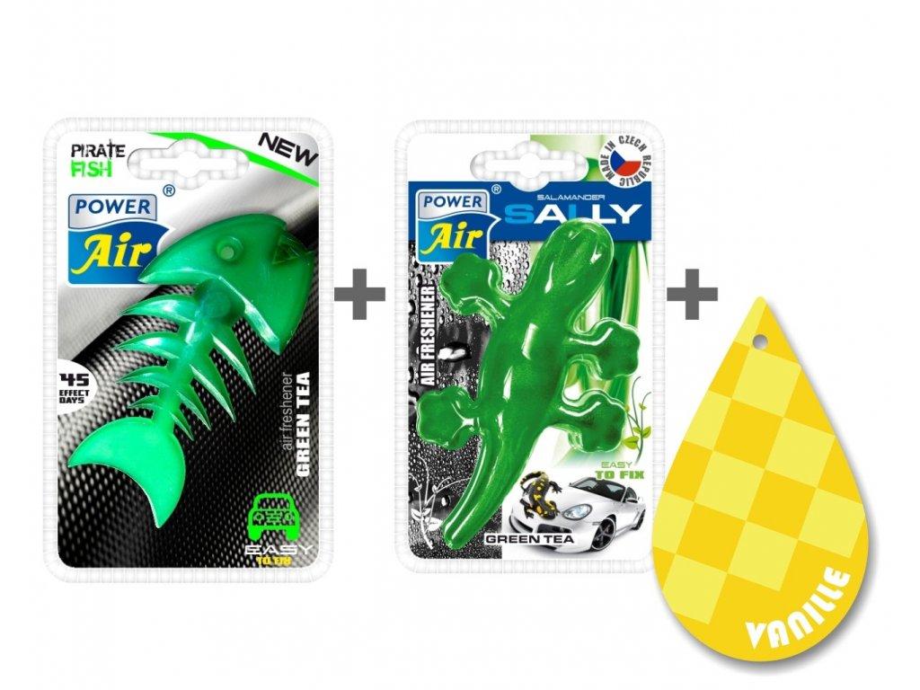 PIRATE FISH + SALLY + Papírový osvěžovač - Green tea/Vanilla