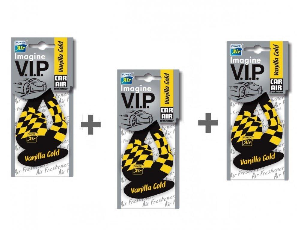 IMAGINE V.I.P. papírový osvěžovač 2+1 - Vanilla gold