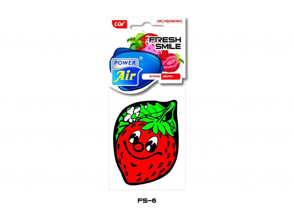 FRESH SMILE papírový osvěžovač - Strawberry