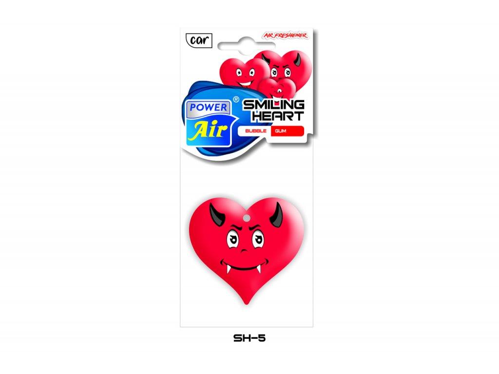 SMILING HEART papírový osvěžovač - Bubble gum