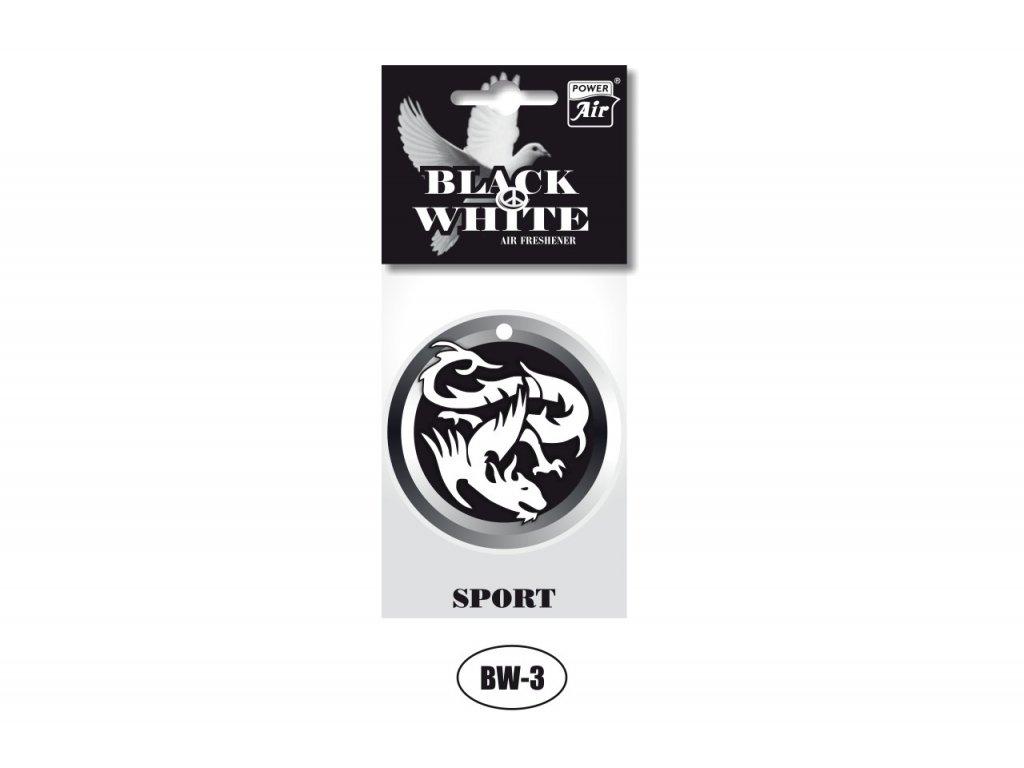 BLACK & WHITE papírový osvěžovač - Dragon