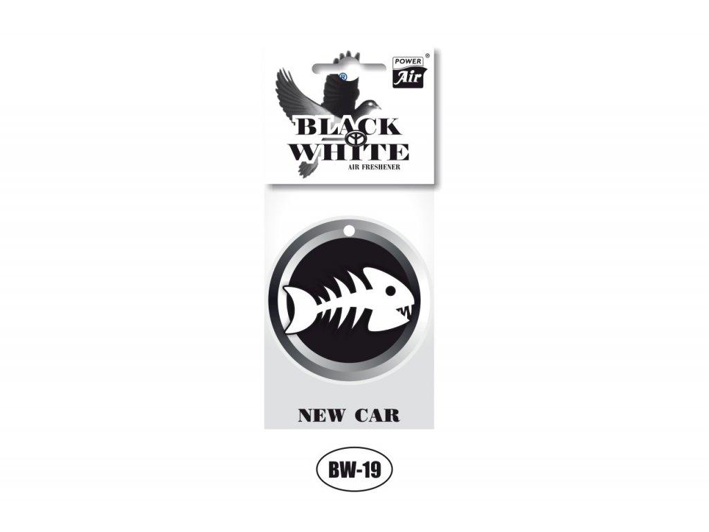 BLACK & WHITE papírový osvěžovač - Fish