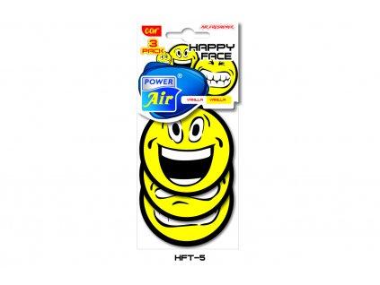 HAPPY FACE papírový osvěžovač VANILLA - 3Pack