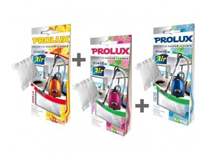 PROLUX vůně do vysavače 3Pack - Extra fresh/Tropical fruits/Vanilka